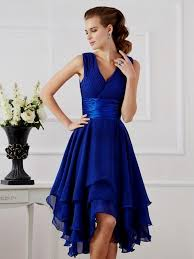 royal blue chiffon bridesmaid dresses royal blue knee length bridesmaid dresses naf dresses