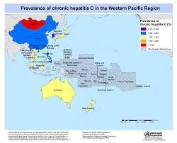 Pacific Region Map Wpro Hepatitis Data And Statistics