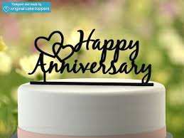 anniversary cake toppers happy anniversary black wedding anniversary cake topper