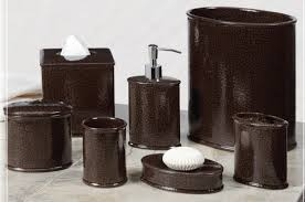 brown bathroom accessory sets new interior exterior design