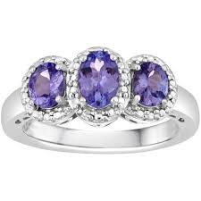 tanzanite rings from images 1 carat t w genuine tanzanite sterling silver ring jpeg