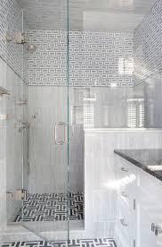 gray maze tile floor contemporary bathroom
