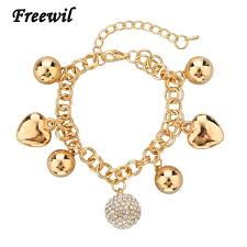 gold bracelet with heart charms images New design delicate korean simple gold bracelets bangles heart jpg