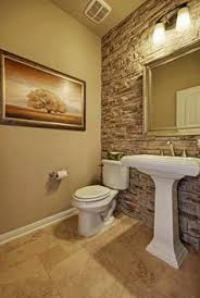 Powder Room Painting Ideas - stone accent would like to try this diy in powder room for