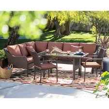 Patio Dining Furniture Belham Living Monticello All Weather Wicker Sofa Sectional Patio