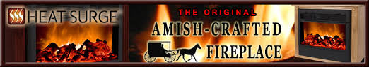 Electric Fireplace Heater Insert Amish Heat Surge Electric Fireplace Heater Fireless Flameless