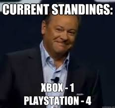 Playstation 4 Meme - current standings xbox 1 playstation 4 sony won quickmeme