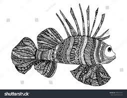 vector hand drawn sea fish black stock vector 448523137 shutterstock