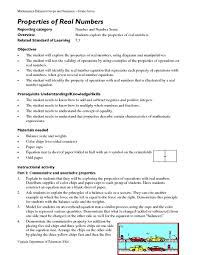 properties of real numbers lesson plans u0026 worksheets
