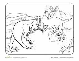 color the dinosaur pachycephalosaurus dinosaur worksheets