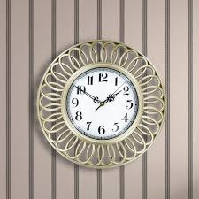 Wall Clocks Canada Home Decor by Champagne Swirls Wall Clock Os245 The Home Depot