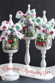 Decorated Jars For Christmas Christmas Apothecary Jars Christmas Decorations The Real Thing
