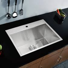 luxury silver color stainless steel overmount kitchen sink