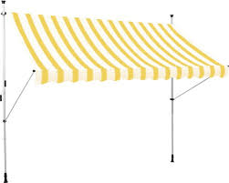 balkon markise ohne bohren klemmmarkise balkon markise 2 5x1 5 m stoff gelb weiss