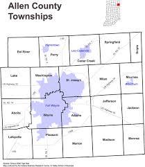 map of allen maps of allen county indiana on allen ingenweb project