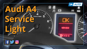 audi a4 check engine light reset how to reset service light 2007 audi a4 youtube