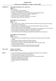sales assistant resume registered sales assistant resume sles velvet