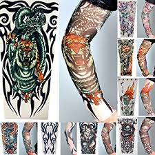 8 x akord stretch nylon fake tattoo sleeves amazon co uk