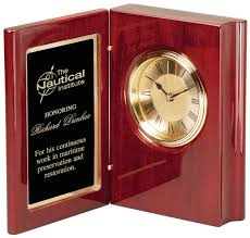 wood desk clock custom engraving from donelson trophy