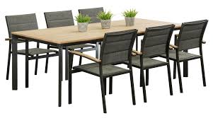 6 seater outdoor dining table aluminium outdoor dining sets madrid 6 seater segals outdoor
