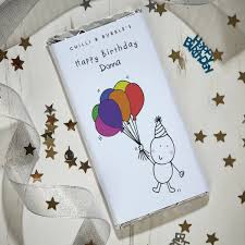 personalised birthday balloons personalised birthday balloons chocolate bar giftpup