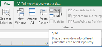 excel 2016 freezing panes and view options full page