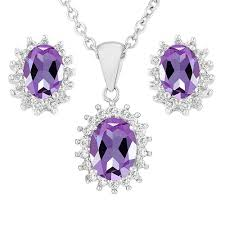 18ct white gold diamond amethyst gemstone archives jewellery world online jewellery wedding