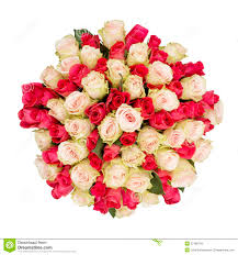 Bouquet Of Roses Bouquet Of Roses Top View Stock Photo Image 57488724