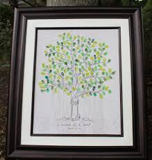 wedding guest sign in guest book wedding tree poster thumbprint wedding tree