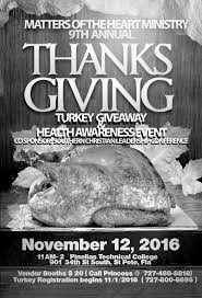 thanksgiving party flyer 9th annual thanksgiving turkey giveaway u0026 health awareness event