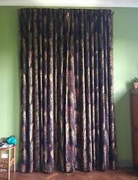 Peacock Curtains Sanderson Themis Black Peacock Curtains Fully Lined Black Out