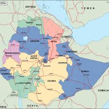 Map Of Ethiopia Ethiopia Political Map Vector Eps Maps Eps Illustrator Map Our