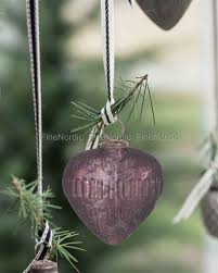 krus ornament ib laursen christmas ornament heart aubergine