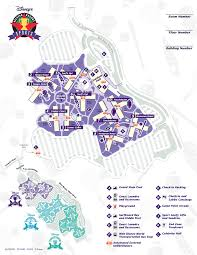 Port Orleans Riverside Map Disney World Maps For Each Resort