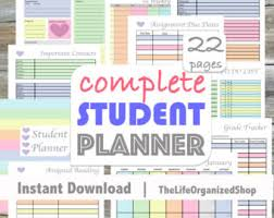 high school agenda academic planner 2017 2018 college student planner printable
