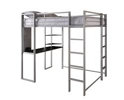 How To Build A Full Size Loft Bed With Desk by Amazon Com Dorel Home Products Abode Full Size Loft Bed Silver