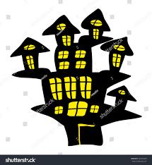 halloween creepy scary haunted house vector stock vector 501875029