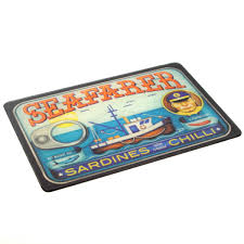 Retro Kitchen Accessories by Sardine Can Lid Glass Cutting Board Vintage Kitchen Accessories