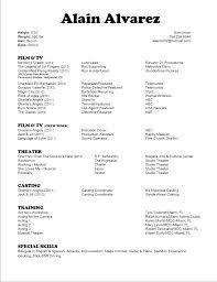 Resume For Movie Theater Job by Activity Alain Alvarez Flickfolks U2013 Crew Talent Projects