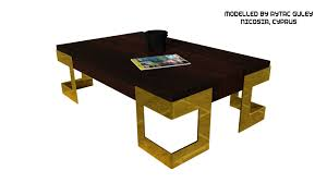 Low Table Coffee Table Type 3 3d Asset Cgtrader