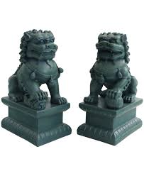 jade lion statue set of two guardian lion statues 18 inches