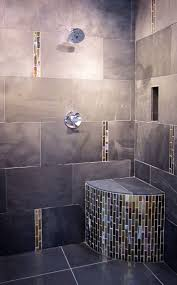 best images about shower tile ideas pinterest luxury modernized shower with metallic glass accents thetileshop