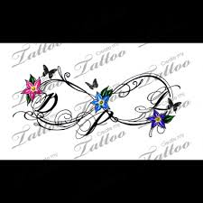infinity initials color with butterflies 148433