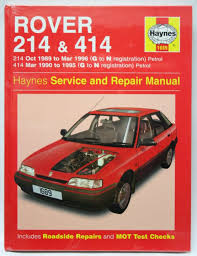 haynes workshop manual rover 214 414 petrol