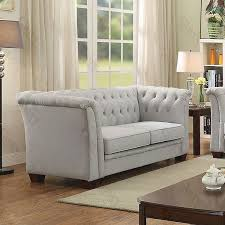 Tufted Living Room Chair by G321 Tufted Sofa Gray Suede Sofas Living Room Furniture