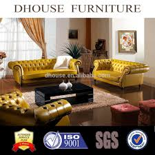 Chesterfield Tufted Leather Sofa 2017 Italian Neoclassical Chesterfield Tufted Yellow Leather Sofa