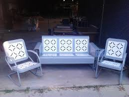 Patio Furniture Glider by Powdercoated Restored Vintage Metal Patio Gliders Vintage Metal