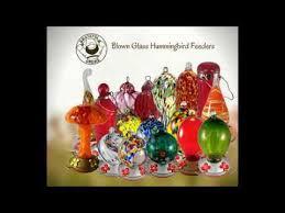 grateful gnome blown glass hummingbird feeders