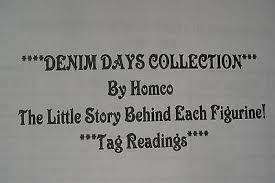 Home Interior Denim Days Figurines by Best Deals On Home Interior Figurines Homco Shopping123 Com
