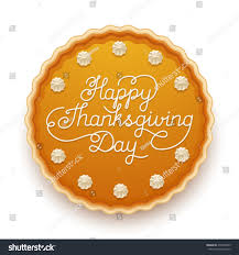 happy thanksgiving day traditional pumpkin pie stock vector